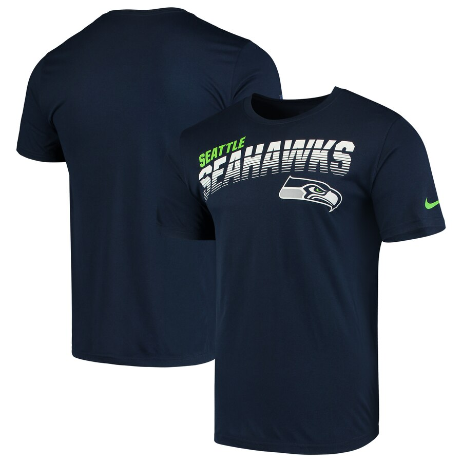 Seattle Seahawks Nike Sideline Line of Scrimmage Legend Performance T Shirt College Navy