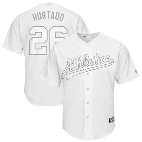 Athletics #26 Matt Chapman White Hurtado Players Weekend Cool Base Stitched Baseball Jersey