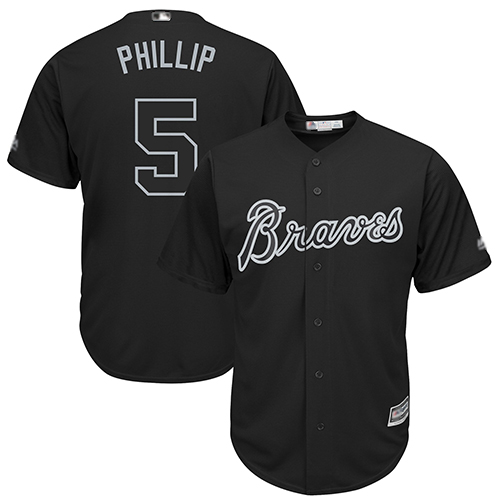 Braves #5 Freddie Freeman Black Phillip Players Weekend Cool Base Stitched Baseball Jersey