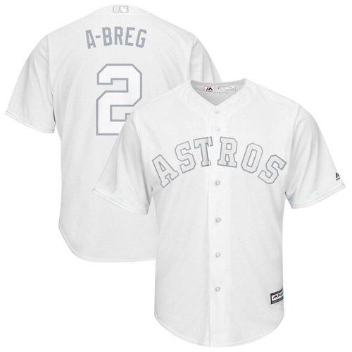 Astros #2 Alex Bregman White A-Breg Players Weekend Cool Base Stitched Baseball Jersey
