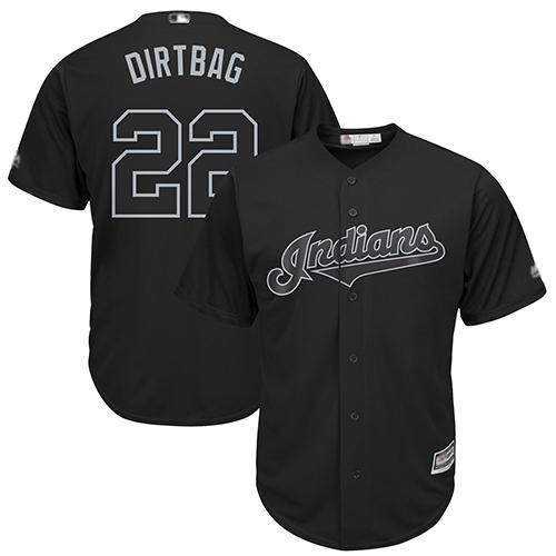 Indians #22 Jason Kipnis Black Dirtbag Players Weekend Cool Base Stitched Baseball Jersey