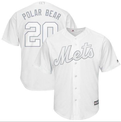 Mets #20 Pete Alonso White Polar Bear Players Weekend Cool Base Stitched Baseball Jersey