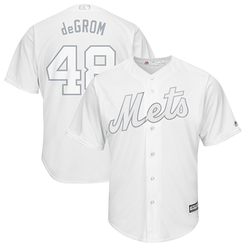 Mets #48 Jacob DeGrom White deGrom Players Weekend Cool Base Stitched Baseball Jersey