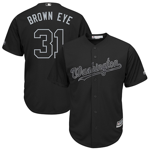 Nationals #31 Max Scherzer Black Brown Eye Players Weekend Cool Base Stitched Baseball Jersey