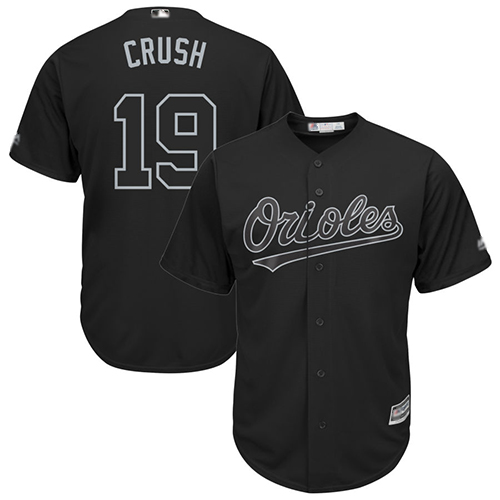 Orioles #19 Chris Davis Black Crush Players Weekend Cool Base Stitched Baseball Jersey