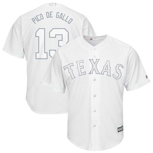 Rangers #13 Joey Gallo White Pico de Gallo Players Weekend Cool Base Stitched Baseball Jersey