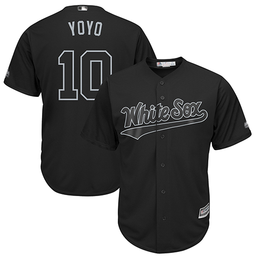 White Sox #10 Yoan Moncada Black Yoyo Players Weekend Cool Base Stitched Baseball Jersey