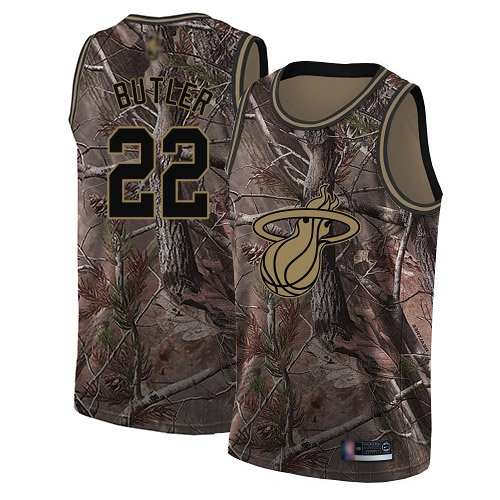 Heat #22 Jimmy Butler Camo Basketball Swingman Realtree Collection Jersey