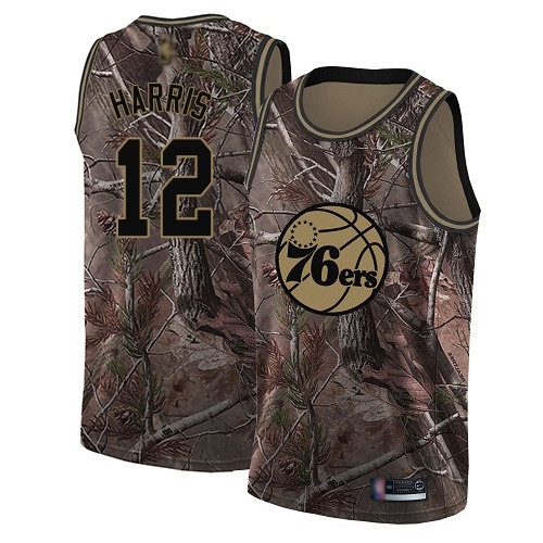 76ers #12 Tobias Harris Camo Basketball Swingman Realtree Collection Jersey