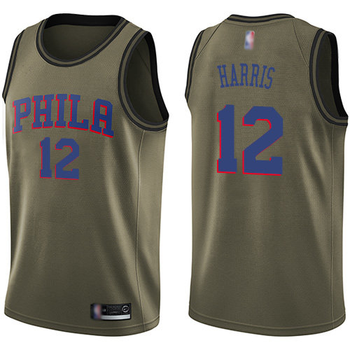 76ers #12 Tobias Harris Green Basketball Swingman Salute to Service Jersey