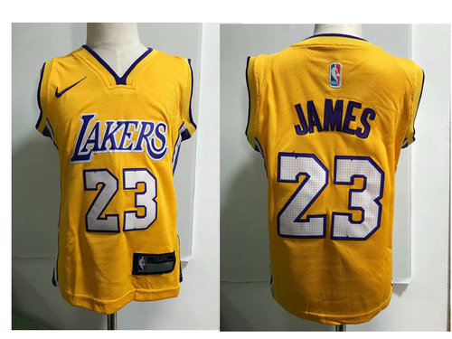 Los Angeles Lakers #23 LeBron James Yellow Toddlers Jersey