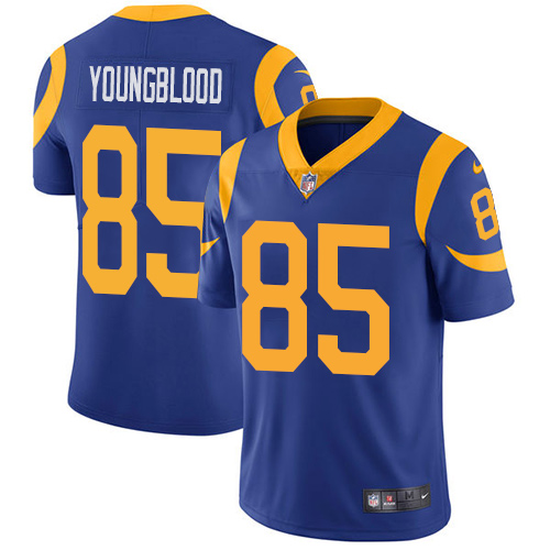 Men's Nike Rams 85 Jack Youngblood Royal Vapor Untouchable Player Limited Jersey