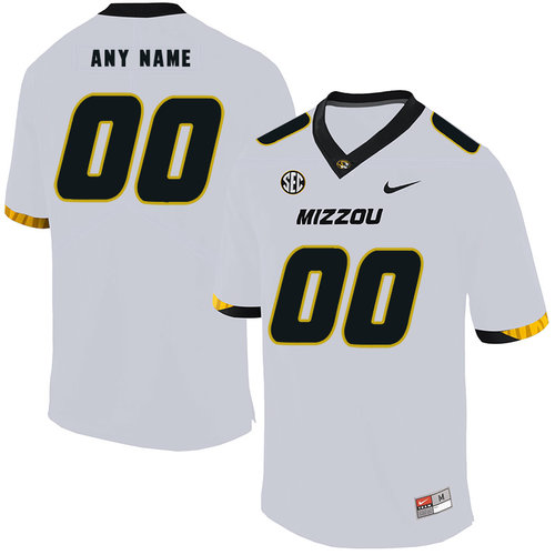 Missouri Tigers Customized White Nike College Football Jersey