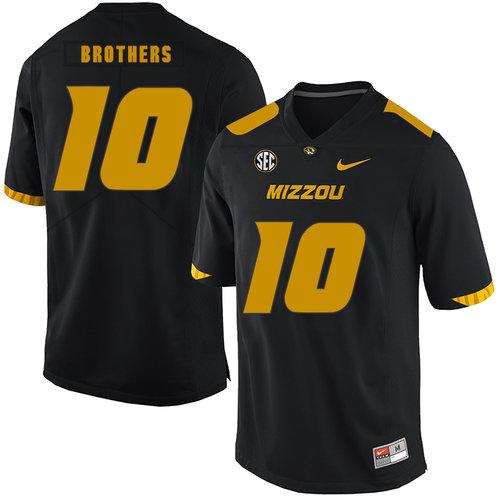 Missouri Tigers 10 Kentrell Brothers Black Nike College Football Jersey