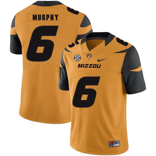 Missouri Tigers 6 Marcus Murphy III Gold Nike College Football Jersey