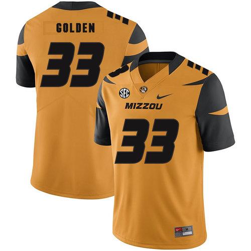 Missouri Tigers 33 Markus Golden III Gold Nike College Football Jersey