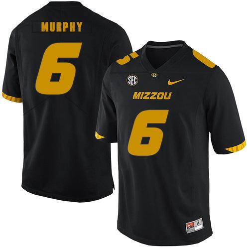 Missouri Tigers 6 Marcus Murphy III Black Nike College Football Jersey