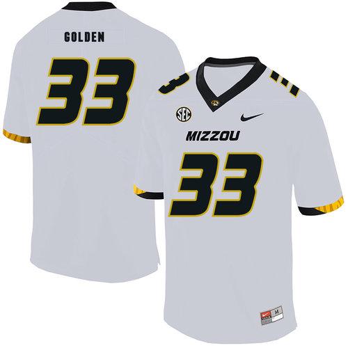 Missouri Tigers 33 Markus Golden III White Nike College Football Jersey