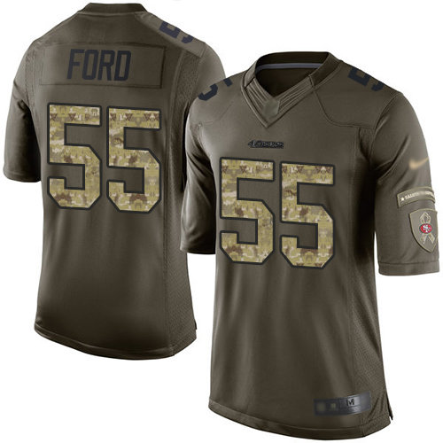 49ers #55 Dee Ford Green Men's Stitched Football Limited 2015 Salute To Service Jersey