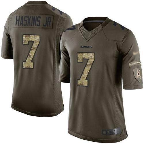 Redskins #7 Dwayne Haskins Jr Green Men's Stitched Football Limited 2015 Salute To Service Jersey