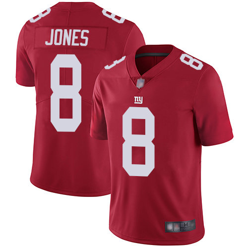 Giants #8 Daniel Jones Red Men's Stitched Football Limited Inverted Legend Jersey
