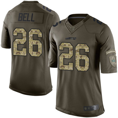 Jets #26 Le'Veon Bell Green Men's Stitched Football Limited 2015 Salute To Service Jersey