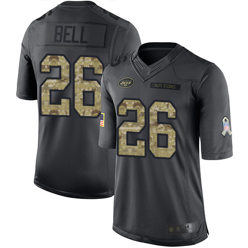 Jets #26 Le'Veon Bell Black Men's Stitched Football Limited 2016 Salute To Service Jersey