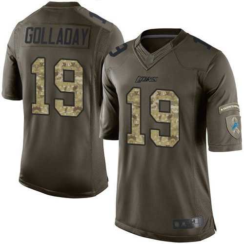 Lions #19 Kenny Golladay Green Men's Stitched Football Limited 2015 Salute to Service Jersey