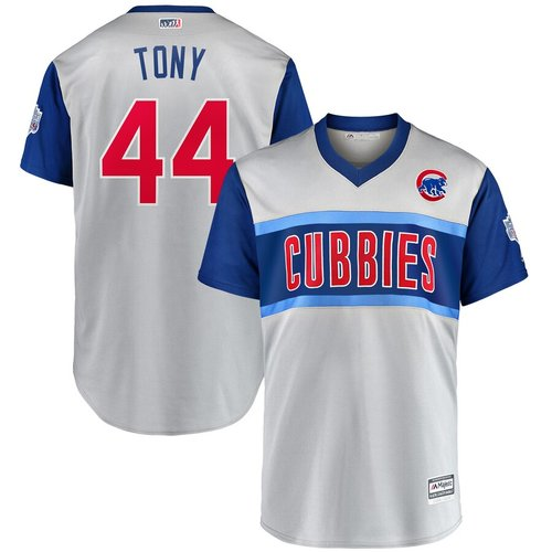 Men's Chicago Cubs 44 Anthony Rizzo Tony Gray 2019 MLB Little League Classic Player Jersey