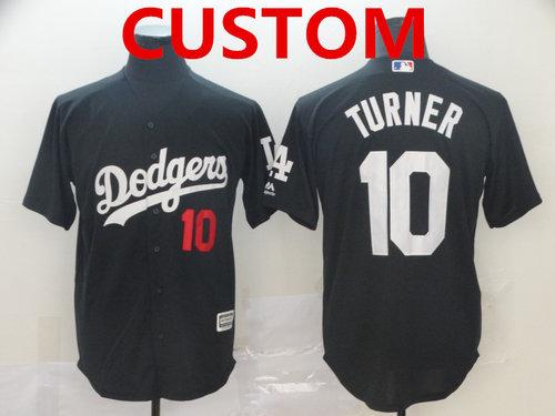 Men's Los Angeles Dodgers Custom Black Turn Back The Clock Cool Base Jersey