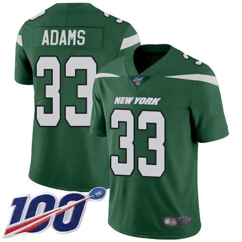 Jets #33 Jamal Adams Green Team Color Men's Stitched Football 100th Season Vapor Limited Jersey