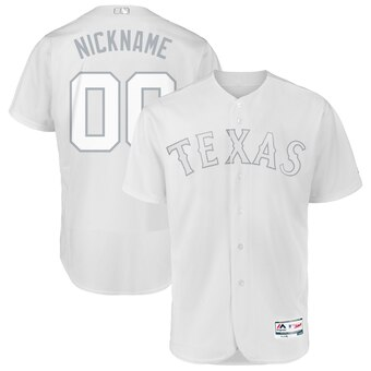 Texas Rangers Majestic 2019 Players' Weekend Flex Base Authentic Roster Custom White Jersey
