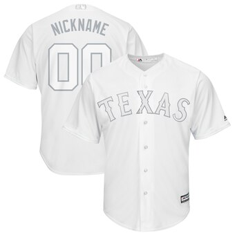 Texas Rangers Majestic 2019 Players' Weekend Cool Base Roster Custom White Jersey
