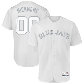 Toronto Blue Jays Majestic 2019 Players' Weekend Flex Base Authentic Roster Custom White Jersey