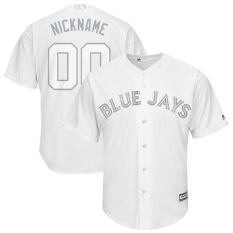 Toronto Blue Jays Majestic 2019 Players' Weekend Cool Base Roster Custom White Jersey