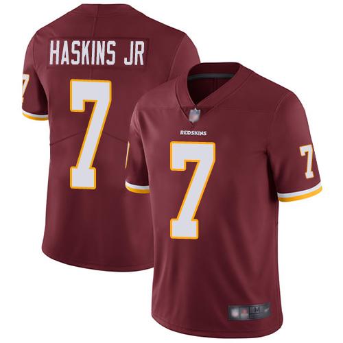 Redskins #7 Dwayne Haskins Jr Burgundy Red Team Color Men's Stitched Football Vapor Untouchable Limited Jersey