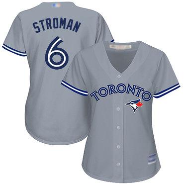 Blue Jays #6 Marcus Stroman Grey Road Women's Stitched Baseball Jersey