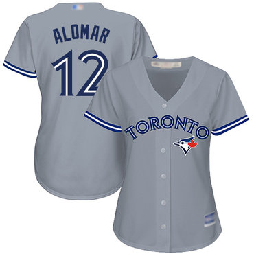Blue Jays #12 Roberto Alomar Grey Road Women's Stitched Baseball Jersey