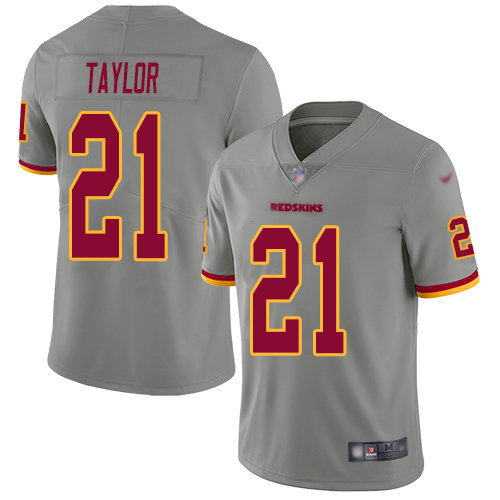 Nike Redskins #21 Sean Taylor Gray Men's Stitched NFL Limited Inverted Legend Jersey