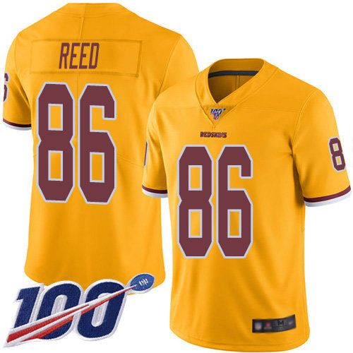 Nike Redskins #86 Jordan Reed Gold Men's Stitched NFL Limited Rush 100th Season Jersey