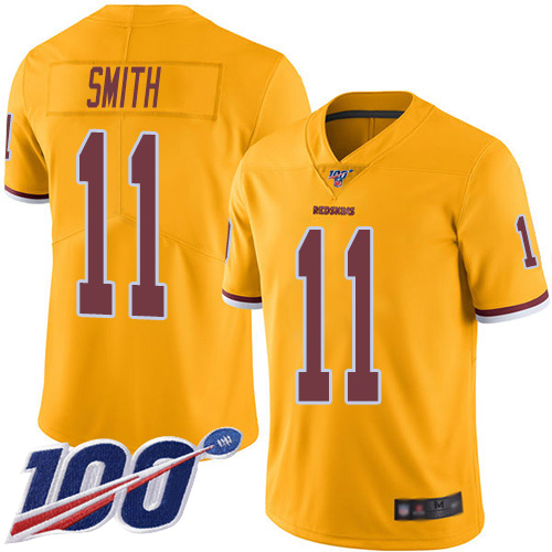 Nike Redskins #11 Alex Smith Gold Men's Stitched NFL Limited Rush 100th Season Jersey