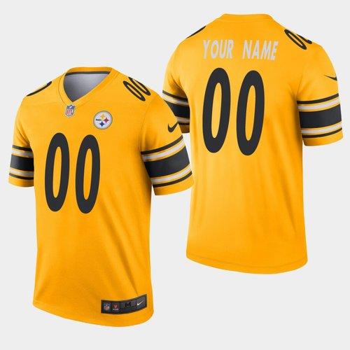 Men's Nike Pittsburgh Steelers Custom Inverted Gold Legend NFL Jersey