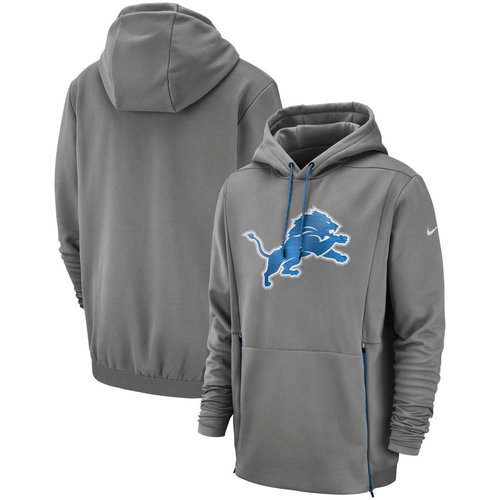 Detroit Lions Nike Sideline Performance Player Pullover Hoodie Gray