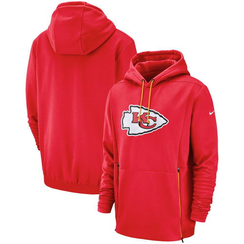Kansas City Chiefs Nike Sideline Performance Player Pullover Hoodie Red