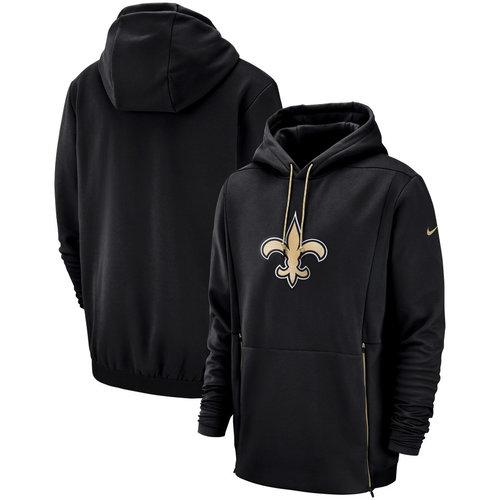New Orleans Saints Nike Sideline Performance Player Pullover Hoodie Black