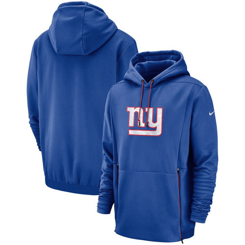 New York Giants Nike Sideline Performance Player Pullover Hoodie Royal