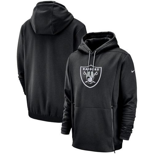 Oakland Raiders Nike Sideline Performance Player Pullover Hoodie Black
