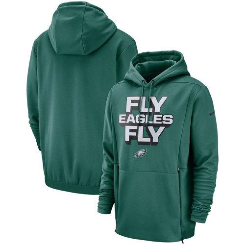 Philadelphia Eagles Nike Sideline Local Lockup Pullover Hoodie Midnight Green