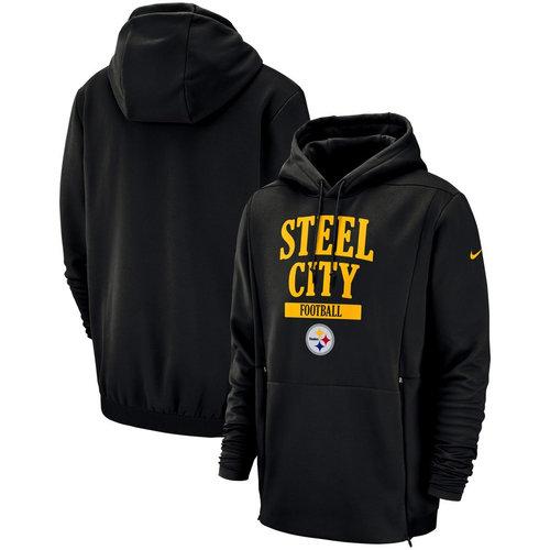 Pittsburgh Steelers Nike Sideline Local Lockup Pullover Hoodie Black