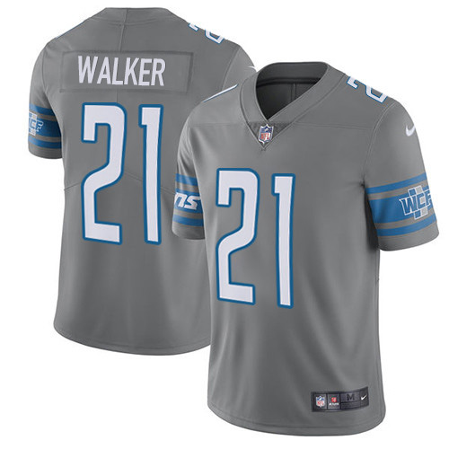 Nike Lions #21 Tracy Walker Gray Men's Stitched NFL Limited Rush Jersey